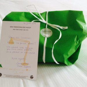 """Στη φωτογραφία: Το """"apology package"""" του ξενοδοχείου Townhouse στο Maastricht της Ολλανδίας"""